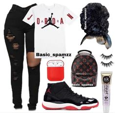 Follow pin~ Babygirl_petty🥺💙 Swag Outfits For Girls, Cute Swag Outfits, Teenage Girl Outfits, Chill Outfits, Teen Fashion Outfits, Edgy Outfits, Retro Outfits, Black Girl Fashion, Fashion Fall