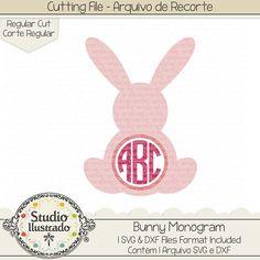 Bunny Monogram, Bunny, Monogram, Pink bunny, coelhinho rosa, Coelho, coelhinho, bunny, rabbit, farm, fazenda, farm animal, animal, pet, Happy easter, Feliz Páscoa, love, páscoa, easter, easter bunny, arquivo de recorte, corte regular, regular cut, svg, dxf, png, Studio Ilustrado, Silhouette, cutting file, cutting, cricut, scan n cut
