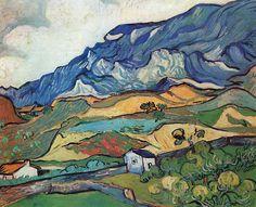 Vincent van Gogh:  Les Alpilles (1889) Oil on canvas.