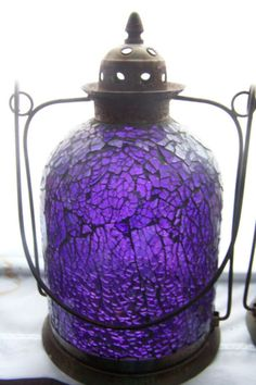 .A purple lantern for my garden shed to promote lupus awareness
