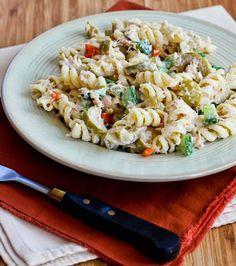 Tuna Pasta Salad. Perfect for a potluck!