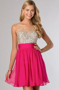Sleeveless party dress in vibrant color