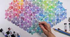 Insanely Detailed Watercolor Pattern Paintings | Bored Panda