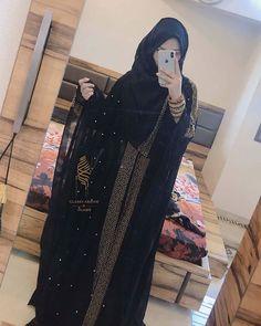 icu ~ Abayas fashion image by Yuls on gamis syar'i inspiration Niqab Fashion, Modest Fashion Hijab, Modern Hijab Fashion, Muslim Women Fashion, Kimono Fashion, Fashion Outfits, Hijab Gown, Hijab Style Dress, Hijab Chic