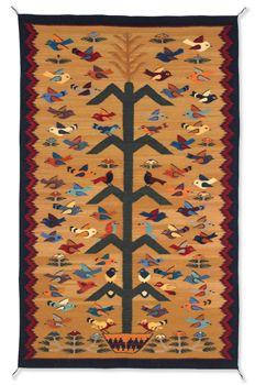Many Birds Tree Of Life Weaving Item 10685 S Crow S Nest