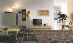 Pops of yellow bring brightness to the living space