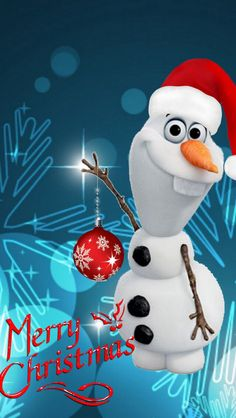 Merry Christmas From Olaf Frozen Christmas, Disney Christmas, Christmas Art, Christmas Greetings, Merry Christmas Wallpaper, Merry Christmas Pictures, Merry Xmas, Frozen Wallpaper, Disney Phone Wallpaper