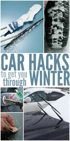 13 Car Hacks To Get You Through The Winter - Winter weather is challenging enough without taking vehicles into consideration. Snow fall or an ice storm can make it difficult to even get on the road, let alone drive on them. From de-icing in a pinch to getting traction on slippery roads, this is a great list of tips to learn for when the time comes. Image by onecrazyhouse.com
