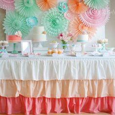 Peach Ombre tablecloth