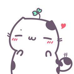 花园夜原创手绘。花园家的喵咕酱!猫咪/表情/头像/卡通/萌物/可爱/猫咪/love