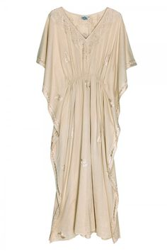 Beautiful gold embroidered caftan.