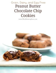 Healthy Peanut Butter Chocolate Chip Cookies aka Chickpea Cookies from www.blessthismessplease.com
