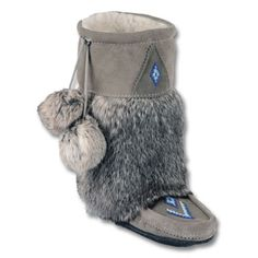 Rabbit fur mukluks. If these don't get me through the Canadian winter, nothing will.