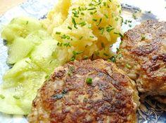 Bavarian meatballs with potato-cucumber salad