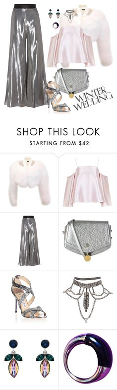 """Heaven's Sake"" by chelsofly ❤ liked on Polyvore featuring Tom Ford, Topshop, Opening Ceremony, Jimmy Choo, Monet, Calvin Klein, contest, contestentry, polyvorecontest and winterwedding"
