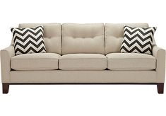 picture of Cindy Crawford Home Hadly Beige Sofa from Sofas Furniture