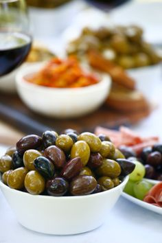 olive medley - Ideas for Your Antipasti,   Artful Pairings that Complement - http://www.delallo.com/articles/antipasti-meal-social-gathering-or-both#