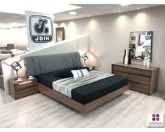 JOIN ΚΡΕΒΑΤΟΚΑΜΑΡΑ ΑΝΑΪΣ Bedroom Bed Design, Room Decor Bedroom, Bed Room, Bed Furniture, Furniture Design, Bed Backrest, Interior, Home Decor, Beds