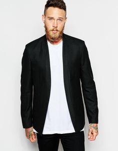 ASOS Skinny Blazer With Concealed Details