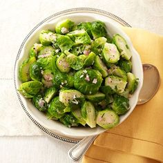 Brussels Sprouts with Shallots