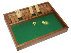 POOF-Slinky 36600 Ideal Shut The Box Tabletop Game open box
