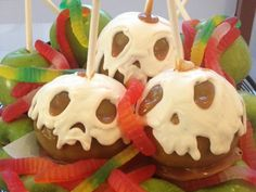 Oooey-Gooey Ghoulish Delights from the Disneyland Resort Candy Kitchens Featuring Skull Apples