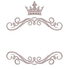 Discover recipes, home ideas, style inspiration and other ideas to try. Embroidery Patterns, Machine Embroidery, Molduras Vintage, Crown Logo, Frame Background, Party Decoration, Wedding Logos, Lettering Styles, Borders And Frames