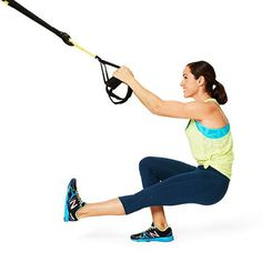 The Pistol Squat is good for your butt...and GREAT for your abs. Try it with the TRX straps at the gym.