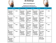 The 30 Day Ab Challenge For Beginners - The Frugal Exerciser with video
