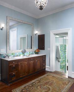Digital Art Gallery Philadelphia townhouse bathroom renovation by Krieger Associates Architects Photograph by Jeffrey Totaro