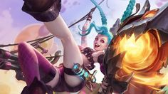 League of Legends Jinx Cannon Game Girl 1366x768