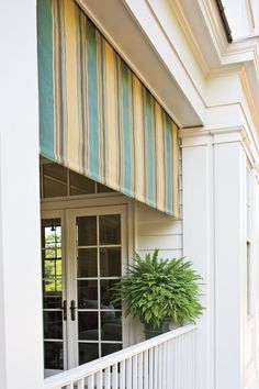 Awning Senoia Georgia Idea House Tour Southernliving A Retractable Awning By Tri Vantage