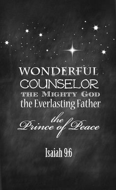 Christmas - Wonderful Counselol the Prince of Peace - Isaiah 9 Free chalkboard Printable from On Sutton Place