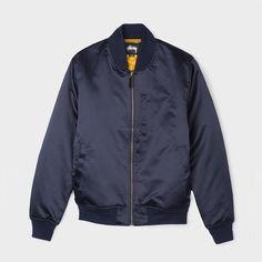 Stussy Emory Satin Bomber #jacket #navy #style #streetwear #shopping #love #bomber #bomberjacket #satin
