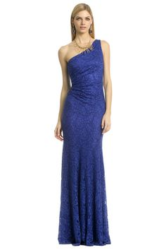 David Meister Blue Nile Falls Gown