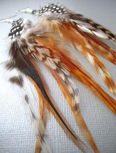 feather earrings #etsy #jewelry
