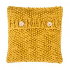 Knitted Cushion Yellow