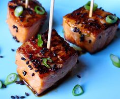 happy healthy smart : Teriyaki Salmon Bites