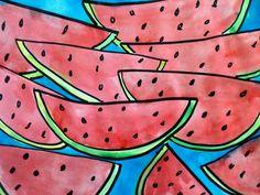 Splish Splash Splatter: Watermelon Watercolors