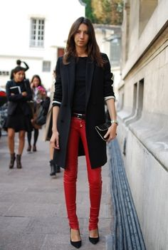 Geraldine Saglio, Vogue Paris's Fashion Editor, who herself is an eponymous ambassador of wearable chic.