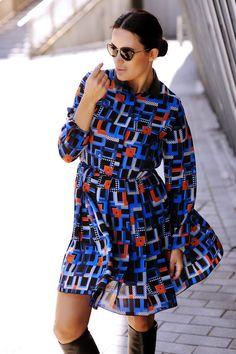 Dress, Longchamp / Sun glasses, Karl Lagerfeld // Martina Aitolehti