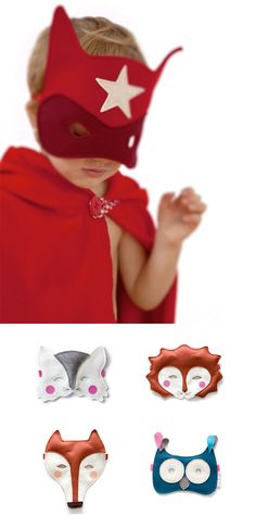 """#DIY mask [actually these are handmade by a company in Spain, not """"homemade,"""" but if you can figure out the eyehole placement and how to do the strap, it could be DIY]"""