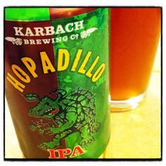 Hopadillo IPA by Karbach Brewing Draught Beer, Houston Locations, Beers Of The World, Beer Snob, Cocktails, Drinks, Brewing Company, Ipa, Pint Glass