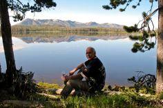 Dave at Riddle Lake, Yellowstone National Park, Wyoming. Summer 2010
