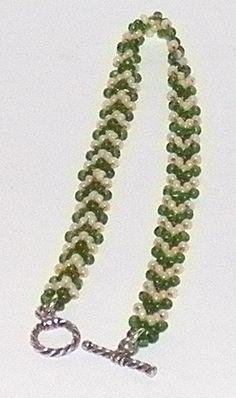 Potawatomi Chevron Chain - Beadwork  #seed #bead #tutorial