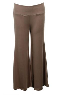 NEW LADIES PALAZZO TROUSERS WIDE LEG FLARED PANTS 8-16