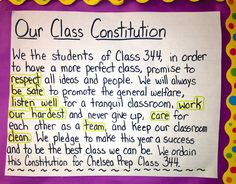 Third grade teacher and blogger Alycia Zimmerman describes how her students draft and ratify their own classroom constitution.