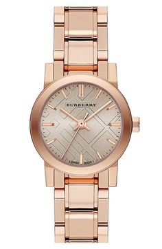 Burberry Check Stamped Round Bracelet Watch, 26mm available at #Nordstrom