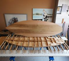 Adding all the pieces together to come to the actual shape of the surfboard.