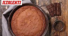 Makeanhimon yllättäessä, tämä helppo suklaakakku pelastaa tilanteen. Egg Free Recipes, Old Recipes, Baking Recipes, Great Desserts, Gluten Free Desserts, Potato Candy, Wacky Cake, Baking Tins, Batch Cooking